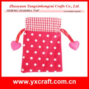 Valentine Decoration Free Sample (ZY11S392-1) Valentine Gift Bag with Ribbon pictures & photos