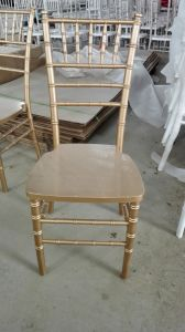 Gold Timber Tiffany Chair, Chiavari Chair for Events pictures & photos