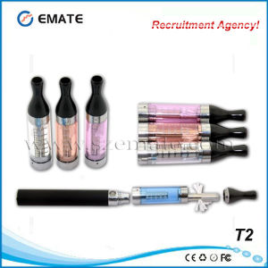 Fast Delivery Plastic Pipes T2 Clearomizer with Detachable Coil (T2)