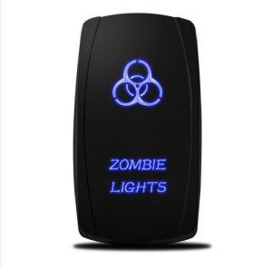 Rocker Switch 12V 24V Zombie Light LED Illuminated Waterproof 20A Spst on/off Lighted for Jeep Auto Marine Boat pictures & photos