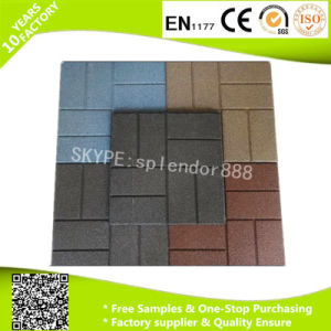 Hot Selling Rubber Patio Tiles Driveway Recycled Rubber Pavers with Low Price pictures & photos