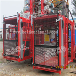 Sc Series Mast Construction Hoists, CE Approved, Single Cage pictures & photos