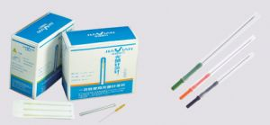 Acupuncture Needles With Color Plastic Handle pictures & photos