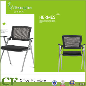 Training Center Office Student Folding Training Chair with Cup Holder pictures & photos