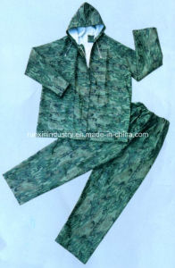 2PCS PVC Rainsuit with Elasticity Trousers R9004 pictures & photos