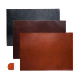 High Quality PU Leather Stitched Desk Pad pictures & photos
