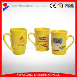 Lipton Yellow Ceramic Mug in Different Shape pictures & photos