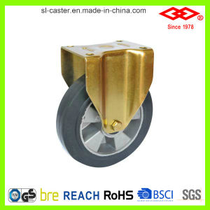 150mm Fixed Plate Rubber Wheel Caster (D160-73F150X50) pictures & photos