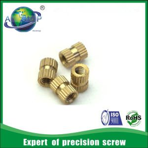 Factory Made Quality Brass Knurled Insert Nuts