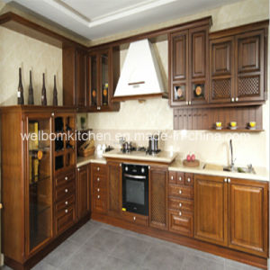 2016 Welbom Professional Wooden Ready Made Solid Wood Kitchen Cabinets pictures & photos