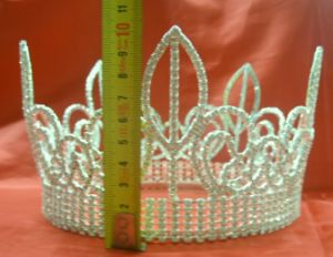 Pageant Tiara Crown H-38000, Wedding Tiara, Bridal Tiara, Fashion Hair Accessories 38000