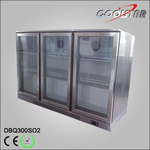 Stainleess Steel Three Swing Door Bottle Storage Chiller with Thermostat Controller (DBQ-300SO2) pictures & photos