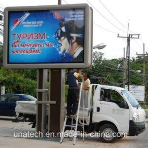 Pole Advertising LED Backlit Banner Flex PVC Fabric Mega Outdoor Road Metail Light Box pictures & photos