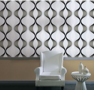 New Deep Embossed Fashion Wall Paper pictures & photos