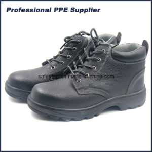 Bafflo Leather High Cut Steel Toe Men Work Shoe pictures & photos