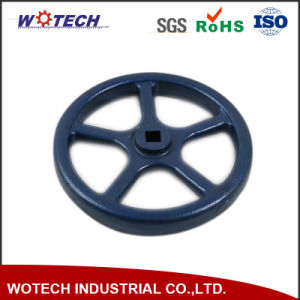 OEM Powder Coating Surface Treatment Sand Casting Iron Hand Wheel