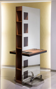 Double Sided Wooden Mirror Station with Showcase (MY-B058) pictures & photos