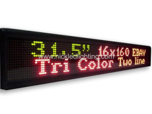 P7.62 Indoor DOT Matrix Dual-Color LED Display Board pictures & photos