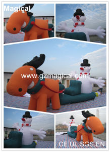 Inflatable Santa Claus and Reindeer (MIC-110) pictures & photos