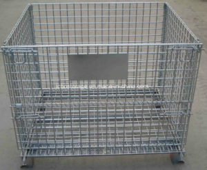 Metal Foldable Pallet Cage Stacking Stillage Container pictures & photos