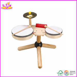 2014 Hot Sale Wooden Kids Drum Toy, New Fashion Children Drum Toy, High Quality Baby Wooden Drum Toy W07j002 pictures & photos