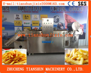 Continuous Fryer Frying Machine with Oil Filter System Tszd-40 pictures & photos