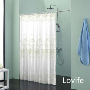 Shower Curtain Bathroom Waterproof Curtain (JG-229) pictures & photos