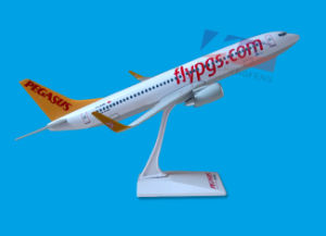 ABS Material Scale 1: 100 Pegasus Airline B737-800 Airplane Model pictures & photos