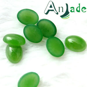 3A Oval Green Jade Gemstone 6X8 Mm