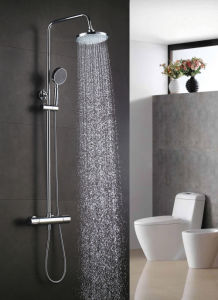 Chrome Plate Finished Round Shape Thermostatic Shower Faucet pictures & photos