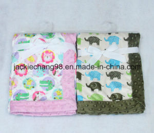 Animal Designs Printed Micro Mink Baby Blanket pictures & photos