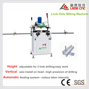 Copy Router with Three Lock Hole Machine Windows PVC Doors and Windows Drilling Machine pictures & photos