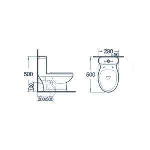 Sanitary Ware Bathroom Wc One Piece Ceramic Toilet pictures & photos