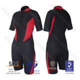 Ladies 3/2mm Neoprene Flat Lock Back Zip Steamer Wetsuit pictures & photos