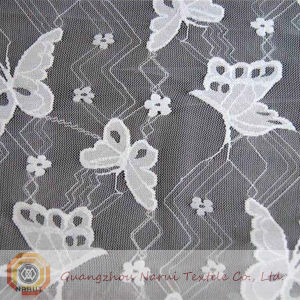 Butterfly Nylon Lace Fabric for Wedding Dress (M0515) pictures & photos
