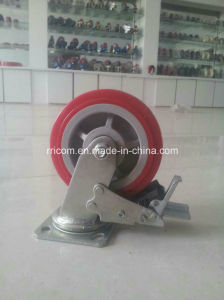 Scaffold Caster Wheel with Brake, Nylon Core, Solid Stem, Plain Bearing pictures & photos