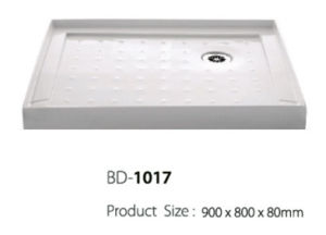 900mm Long Three Flange Corner Drain Shower Base (BD-1017) pictures & photos