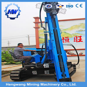 Solar Power Station C Shape Piles Mounted Crawler Type Guardrail Pile Driver pictures & photos