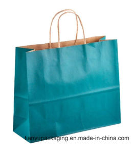 Green Eco-Friendly Wholesale Shopping Paper Carrier Bag with Handle pictures & photos