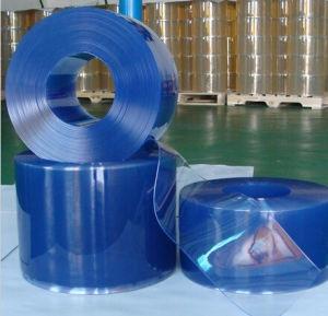 Light Blue Super Transparent PVC Curtain pictures & photos