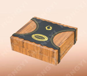 Wood Paper and White Gift Box for Gift Packaging (HYG015)