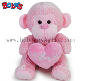 Wholesale China Funny Pink Monkey Plush Toy with Pink Heart Pillow pictures & photos