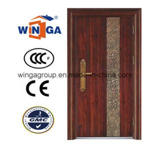 Villa Buidling Good Quality Outside Security Iron Steel Door (W-S-15) pictures & photos