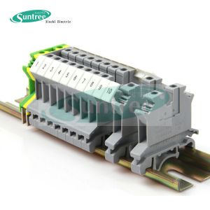 UK Universal Electrical Terminal Block DIN Rail pictures & photos