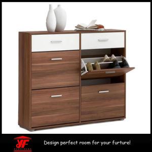 Large Sliding Door Multi Function Shoe Storage Cabinet Solid Wood Shoe  Cabinet