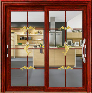 2 Panels Aluminium Sliding Door In Dining Room