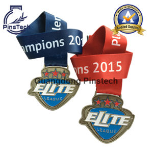 Custom Soft Enamel Medal with Heat-Transfer Ribbon pictures & photos