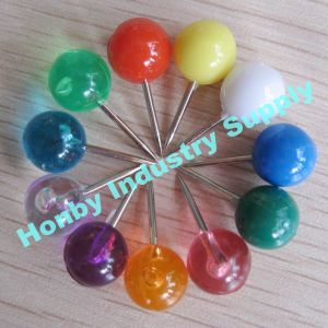 Office Supplies Colorful 10mmx20mm Ball Head Decorative Map Push Pin (HP4710C)
