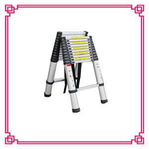 Double Aluminum Telescopic Ladder pictures & photos