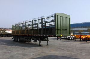 China Brand Three-Axle High-Wall Flatbed Trailer pictures & photos